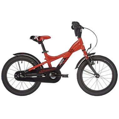 """Bicicletta Bambino S'COOL XXLITE Allu 1V 16"""" Rosso/Nero 2019"""